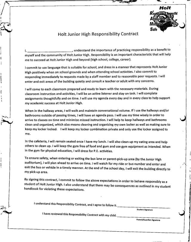 responsibility contract